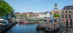 Leiden panorama (PaulHoo) Tags: city urban panorama holland netherlands skyline architecture buildings leiden spring nikon cityscape pano wideangle cityview 2016 d700