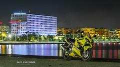 Honda CBR 600F4i (Imaginarium 2.1) Tags: road city longexposure sea bike yellow night honda reflections lights greece macedonia motorcycle thessaloniki bv bvs cbr600f4i macedoniapalace sunriseyellow bazilvansinner bazilvansinnerautomotivephotography