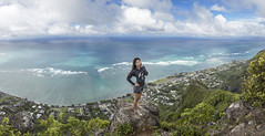 Kaaawa Panorama (Marvin Chandra) Tags: blue panorama hawaii oahu hiking pacificocean hiker 24mm kahana 2016 d600 kaaawa marvinchandra katsweets