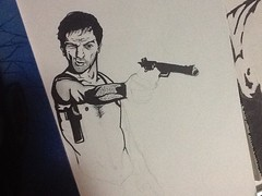 Travis Bickle WIP (ZZFX) Tags: detail art film pencil dark painting paper weird sketch scary paint artist drawing vampire zombie character horror create concept spawn fx darkart spfx zzfx