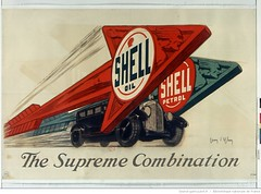 1925. Shell oil Shell petrol. The supreme combination (Library ABB 2013) Tags: english poster shell bnf 1925 nationallibraryoffrance bibliothquenationaledefrance