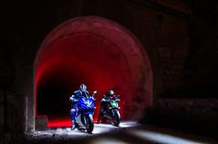 LightMotos_9 (Suso Sinmiedo) Tags: blue lightpainting verde green azul alicante motorbike moto tunel agost pilito vaverdedelmaigm