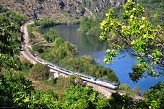 Arco Camino de Santiago. Covas (rapidoelectro) Tags: ro arco sil larga distancia ourense renfe rpido 252 covas diurno