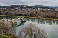 Pont d'Avignon (A. Nothstine) Tags: christmas city bridge winter france history water architecture ruin avignon rhone