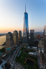 W New York Downtown (Jonathan Heisler) Tags: world nyc sunset building tower ferry skyline island one freedom downtown state w center empire wtc trade staten the