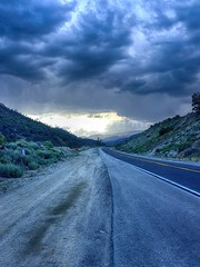 A May shower on the road to Pine Mountain Club (Unangelino) Tags: hdr hdrpicks pinemountainclub interstate5 frazierpark