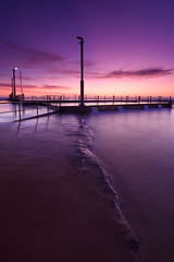 Into the Light (Rodney Campbell) Tags: ocean water pool clouds sunrise au australia newsouthwales cpl monavale rgnd09