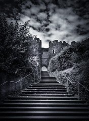 Conwy Castle, Conwy, North Wales (Dreampixels LTD) Tags: castle monochrome stairs blackwhite stairway conwycastle splittone northwalesconwy