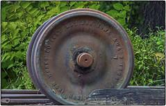 Spare Wheel (NoJuan) Tags: railroad wheel rusty nikkor a7 nikkorlens northwestrailwaymuseum sonya7 sonya7withmanualfocuslens