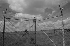 time to breakout - no doubt (rainbowcave) Tags: fence wire barb mesh maschendrahtzaun stacheldrahtzaun wolken clouds zaun