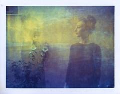 twin (www.matteovarsi.com) Tags: twin portrait girl face flowers doubleexposure polaroid 669film expiredfilm colors