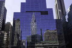 midtown reflected     2860 (deanwgd608) Tags: 42ndst gct manhattan reflection nyc newyorkcity glass chryslerbuilding