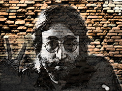 John Lennon (codedtestament777) Tags: citysights5 graffiti art beautiful love life design surreal text bright sign painting writing nature crazy weird fabulous environment cartoon animation outdoor street photo border photoborder illustration collection portrait face expression character people texture wall drawing peace hippie glasses music song john lennon johnlennon rock pop experimental