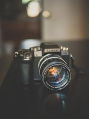 The fire within (Vincent F Tsai) Tags: camera lens cameraporn gear body minolta rokkor 58mm f14 panasonic lumixg7 leicadgsummilux25mmf14 reflection bokeh metabones speedbooster vintage modern