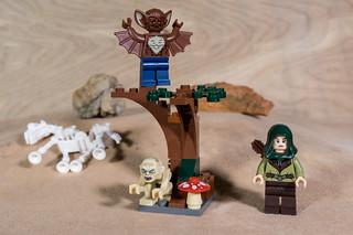 Gollum, the Man-bat and an Elf