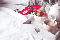 breakfast in bed with coffee and cookies (lyule4ik) Tags: bed breakfast coffee cookies tray cocoa cup food beverage drink plate hotel meal luxury service morning healthy bakery pastry bedroom continental room object fresh nutrition rustic relaxation warm view winter mood closeup life cozy still home background hot white sweet autumn brown top tea autumnal sugar wooden cold