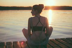 Girl sitting on a pier (freestocks.org) Tags: ahead alone calm calmness contemplation contemplative deck enjoying female girl hair horizon horizontal lake looking nature outcast pier port reflex relaxation rest resting sitting solitude summer sun sunset watching water waterfront woman wooden
