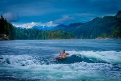 Skookumchuk Rapid  (T.ye) Tags: people mountain landscape river rapid narrow water wave waves kayaker    whirlpools