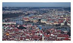 Night view over Praha (Alex Verweij) Tags: bridge holiday water canon evening praha brug avond charlesbridge praag rivier moldau karelsbrug alexverweij