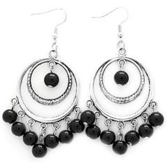 5th Avenue Black Earrings P5110-4