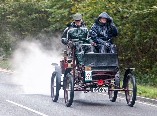 Steaming in the rain