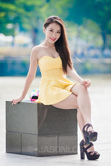 Francesca - BQ - 003 (jasonlcs2008) Tags: street woman sexy girl beautiful fashion asian boat model singapore pretty photoshoot quay francesca boatquay soh rafflesplace raffles venom 2014 francescasoh jasonlcs