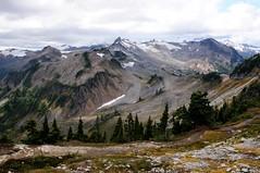 Mt Baker & Co (YuriZhuck) Tags: usa mountain nature rock landscape us washington baker unitedstates hiking ridge trail wa shuksan artistpoint