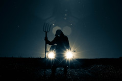 A dangerous encounter [Explored] (arnaud patoto) Tags: blue light sky man car night dark scary noir lumière sony fear fork voiture bleu sombre killer afraid nuit phare tueur peur hautemarne fourche effrayant alpha57