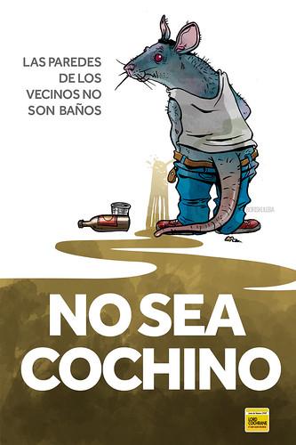 """Carteles, campaña de aseo para la Junta de Vecinos 69, Lord Cochrane, Valparaíso. • <a style=""""font-size:0.8em;"""" href=""""http://www.flickr.com/photos/8565265@N03/15711209682/"""" target=""""_blank"""">View on Flickr</a>"""