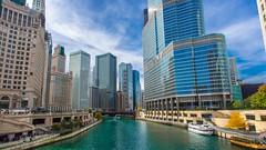 Down the River (Explore 11-9-2014) (Mi Bob) Tags: chicago illinois unitedstates chicagoriver trump chicagoopenhouse