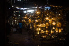 Lantern Souks - Medina Marrkech (JGMarshall Photography) Tags: africa travel holiday colour sahara canon photography interesting lowlight ancient market adventure explore morocco berber atlas marrakech souk medina barter lantern dye dslr souks trade joemarshall jgmarshall