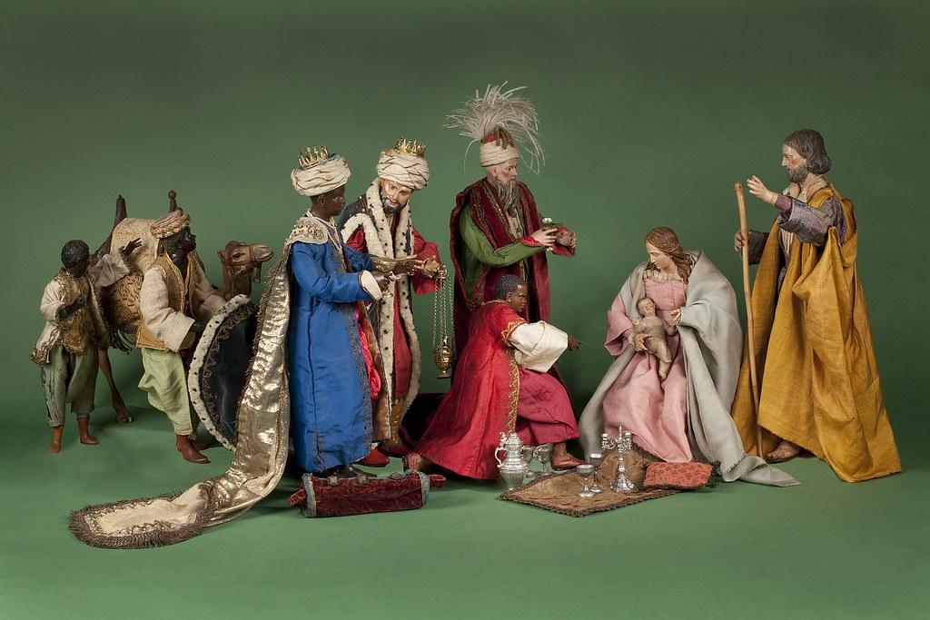 Gerestaureerde Napolitaanse kerstgroep