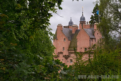 Craigievar Castle (omairkha) Tags: uk pink trees castle forest scotland aberdeen alford craigievar