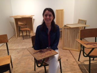 Liz Cabellero, Director of her gallery Sketch  from Bogotá at Pinta Miami