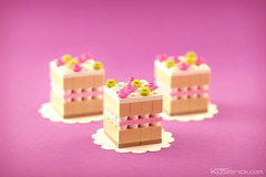 Strawberry & Cream Cake (kosbrick) Tags: food building cake dessert strawberry december lego cream mini eat creation slice custom build challenge built moc foodcember kosbrick
