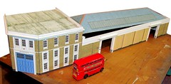 Barking BK, London Transport bus garage (kingsway john) Tags: london transport barking bus garage model card kit 176 scale rt uk kingswaymodels building oo gauge londontransportmodel diorama miniature