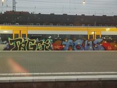 TAGSI AGUS (mkorsakov) Tags: train graffiti zug bahnhof colored agus piece tagging hbf bunt münster tagsi abgestellt eqt