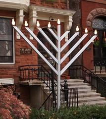 Chabad House (Brule Laker) Tags: chicago hanukah northside menorah goldcoast jewishholidays lubuvitch