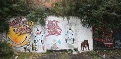 IMG_7131a (liborius) Tags: street brick london art wall graffiti star punk flag under bulldog american lane shoreditch stormtrooper hood wars smileys 2014