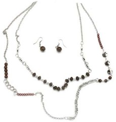 5th Avenue Brown Necklace P2320A-1