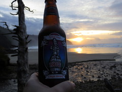 dead guy for sunset (carolyn_in_oregon) Tags: beer oregon coast pacificocean deadguy capelookoutstatepark