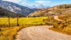 Tetons in the distance - explore (Marvin Bredel) Tags: road river explore kelly winding wyoming grandtetons tetons redhills bridgertetonnationalforest redhillsranch marvinbredel grosventrerivercanoneos6d