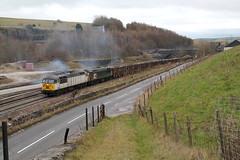 56103 + 56303 (marcus.45111) Tags: stone train grid flickr derbyshire railway dslr freight wagons dcr 2014 flickruk peakforest class56 canoncameras 56103 1100d 56303 exbritishrail