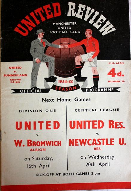 Manchester United v Sunderland 1st Div 11-04-55