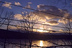 2015_0105Second-Floor-Sunset0001 (maineman152 (Lou)) Tags: winter sunset sky cloud sun lake ice nature water clouds landscape pond maine january coldweather winterweather naturephotography landscapephotography naturephoto skycolors icecovered westpond landscapephoto