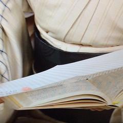 #NHK スタジオパークでの 檀ふみ さんの5年連用日記 3年日記からのアップデート びっしりと細かな文字なので10年日記だと難しいかも