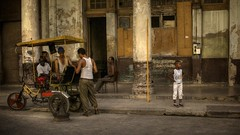 Streets of Havana - Cuba (IV2K) Tags: street kid child tricycle sony havana cuba centro caribbean cuban habana hdr kuba rx1
