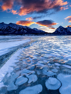 Nature's Fireworks over the Frozen Lake