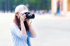 The photographer (Phn Chua) Tags: street travel people cute girl hat asian hall women pretty vietnamese pentax vietnam