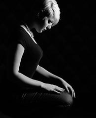 light (heidel-art) Tags: light shadow portrait people woman white black girl monochrome beautiful beauty mono blackwhite model nikon women posing portrt menschen portraiture monochrom